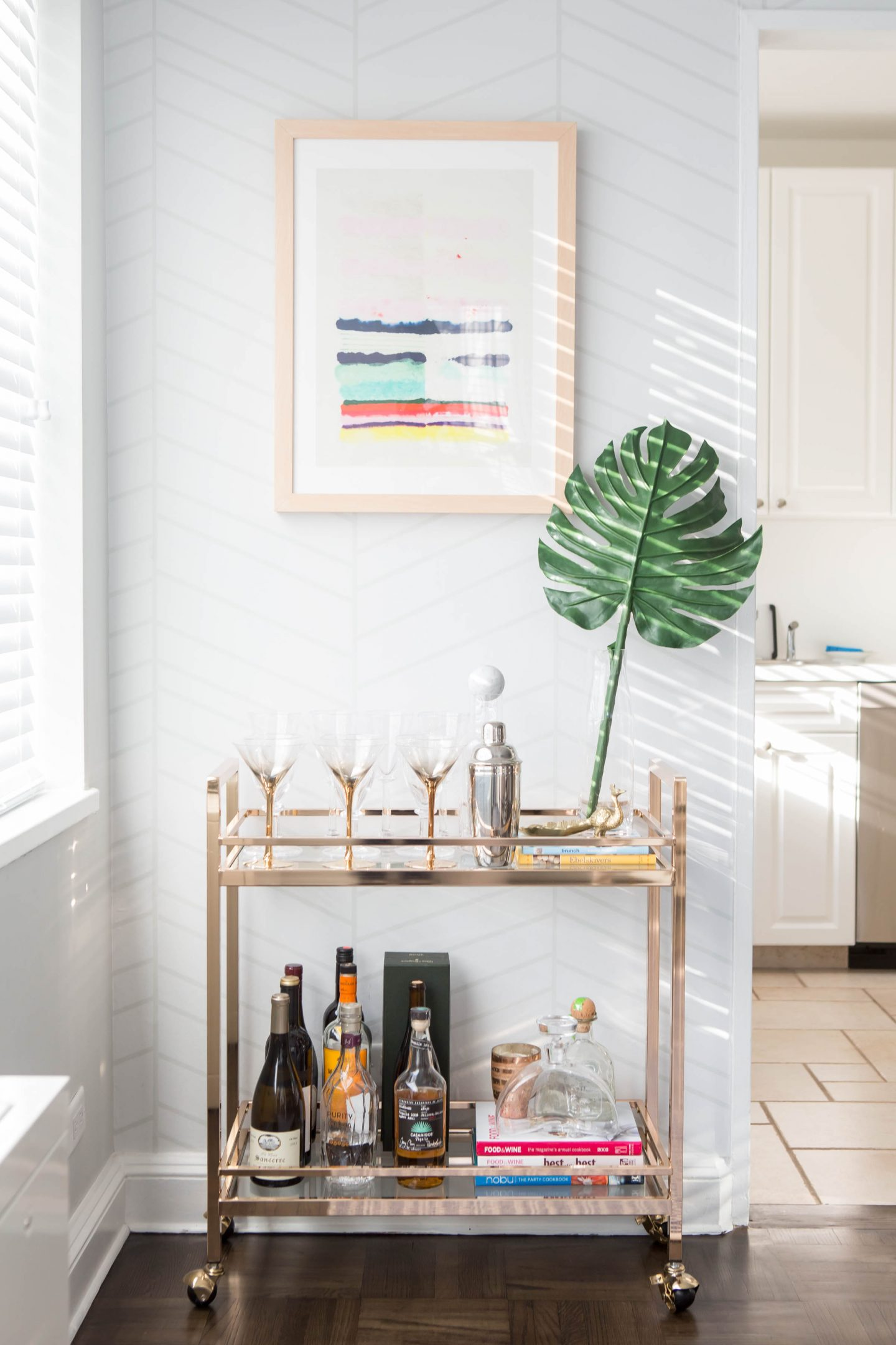 Bar Cart, Dining Room Design, by Get Decorated